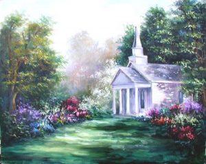 church-in-springtime